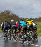 Group of Cyclists - Paris-Nice 2017 stock image