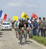 Group of Cyclists- Paris Roubaix 2014 Stock Image