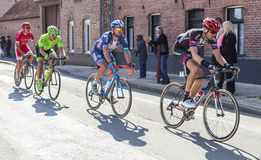 Group of Cyclists - Paris Roubaix 2016 stock photography