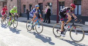 Group of Cyclists - Paris Roubaix 2016 royalty free stock photo