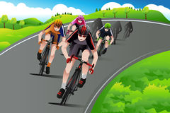 Group of cyclists racing Stock Image
