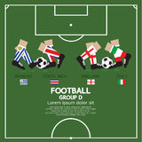 Group D Of 2014 Football (Soccer) Tournament. Group D Of 2014 Football (Soccer) Tournament Vector Illustration Royalty Free Stock Photos