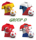 Group D European Football 2016 Stock Photography