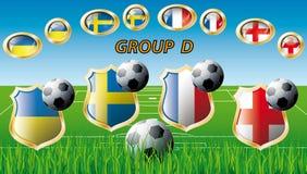 Group D - Ukraine, Sweden, France, England. Euro 2012, Group D - Ukraine, Sweden, France, England. Participation of teams at the biggest European football Vector Illustration