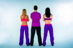 A group of dance instructors. On  white background Royalty Free Stock Images