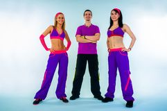 A group of dance instructors. On  white background Stock Images