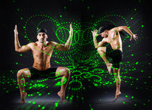 The group of dancer in dancing abstract concept. Group of dancer in dancing abstract concept royalty free stock images