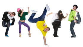 Group Dancer With Leader Royalty Free Stock Photos