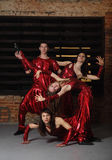 Group of dancers Royalty Free Stock Image