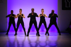 Group of dancers performs at opening of the New York Life fashion show during MBFW Fall 2015 Stock Image