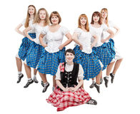 Group of dancers of Scottish dance Royalty Free Stock Image