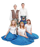 Group of dancers of Scottish dance Stock Photo