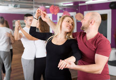 Group dancing in club Stock Photos
