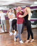 Group dancing in club Stock Images