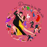 Group of dancing people Royalty Free Stock Images