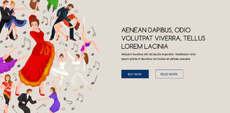 Group of dancing people Royalty Free Stock Photography