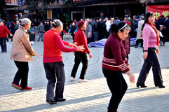 Group Dancing on The Square Royalty Free Stock Photography