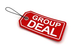 Group deal tag, 3d render Royalty Free Stock Photos