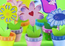 Group of decorative flowers. With little heart Stock Photo