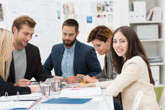 Group of dedicated business professionals royalty free stock photo