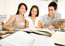 Group of dedicated students Stock Image