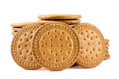 Group of biscuits on white isolated background Royalty Free Stock Photo