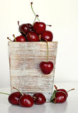 Group of delicious red cherries Stock Images