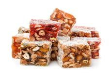 Group of delights with nuts Stock Photography