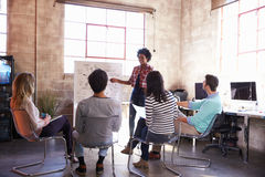 Group Of Designers Having Brainstorming Session In Office Stock Image