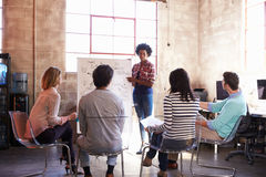 Group Of Designers Having Brainstorming Session In Office Stock Photos