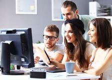 Group of designers. In office royalty free stock photo