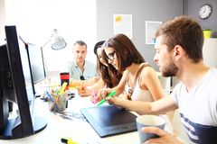 Group of designers. In office Stock Photos