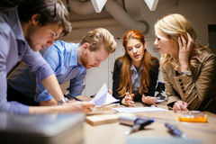 Group of designers working on a project Royalty Free Stock Image