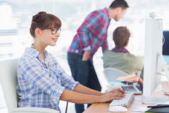 Group of designers working in their office Royalty Free Stock Images