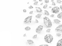 Group of Diamonds. Diamonds on white background with place for your text Stock Image