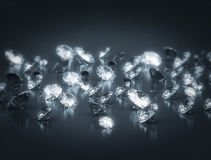 Group of diamonds. High quality 3d render Stock Image