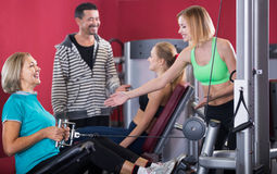 Group of different age having strength training Royalty Free Stock Photo