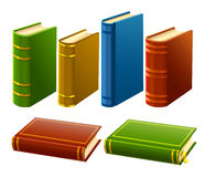 Group of different books with empty cover Royalty Free Stock Photo