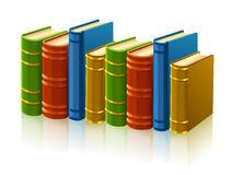 Group of different books with empty cover Stock Photography