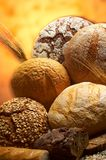 Group of different bread products Royalty Free Stock Images