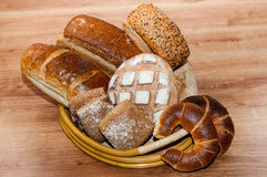 Group of different breads Stock Photo