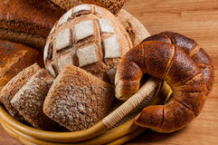 Group of different breads type Royalty Free Stock Photography
