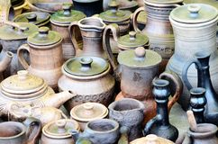 Group of different ceramics Royalty Free Stock Photography