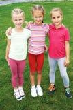 Group of different children having good summertime Stock Images