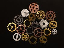 Group of different colorful cogwheels Royalty Free Stock Photo