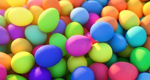 Large group of different Colorful Easter eggs Stock Images