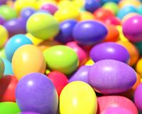Large group of different Colorful Easter eggs Royalty Free Stock Photography
