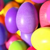 Large group of different Colorful Easter eggs Stock Photography