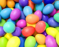 Large group of different Colorful Easter eggs Stock Photo
