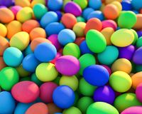 Large group of different Colorful Easter eggs Royalty Free Stock Image